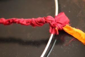 Wrap Sari Silk on ring